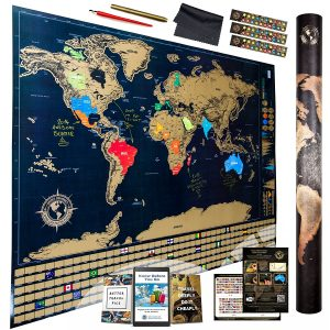15 great gift ideas for travelers adventures with anthony scratch off world travel map gumiabroncs Image collections